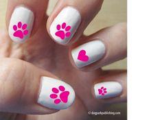 Pawprint Love Nail Art on sale @Coupaw