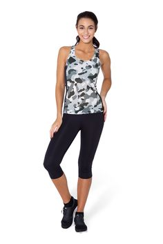 Snow Camo Battle Top - LIMITED by Black Milk Clothing $50AUD