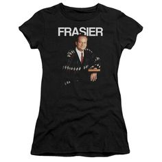 CHEERS FRASIER Juniors Sheer Cap Sleeve T-Shirt