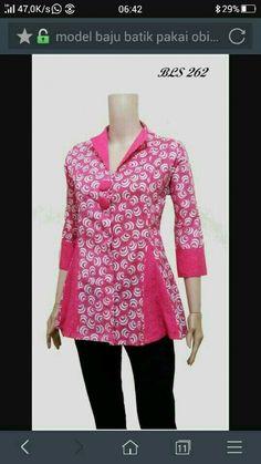 Blouse Batik, Batik Dress, Blouse Dress, Dress Sewing Patterns, Blouse Patterns, Blouse Designs, African Wear, African Fashion, Batik Fashion