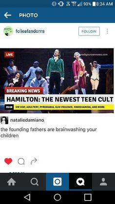 Hamilton: the new teen cult. The Founding Fathers are brainwashing your…