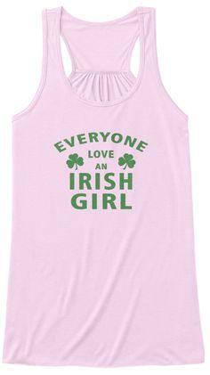 Everyone Love An Irish Girl Shirt2017 Soft Pink Tank Top Nữ Front