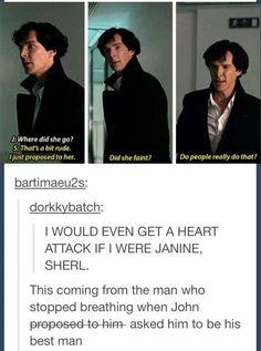 Okay I'm not even part of the Sherlock fandom, but I ship johnlock so much. Second fandom disease is so real. Sherlock Bbc, Sherlock Fandom, Benedict Cumberbatch Sherlock, Sherlock Quotes, Jim Moriarty, Watson Sherlock, Funny Sherlock, Sherlock Poster, Sherlock Season