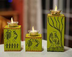 Items similar to Warli Artpiece on Etsy Pottery Painting Designs, Pottery Designs, Madhubani Art, Madhubani Painting, Hand Painted Fabric, Hand Painted Rocks, Worli Painting, Diy Diwali Decorations, Bike Sketch