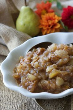 crockpot pear amp ginger applesauce it s fantastic over ice cream with ...