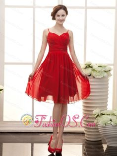 Bright Red Short Prom Dress