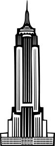 Art Deco Empire State Building by @Boort, My attempt at a rendering of the Empire State building in black and white.