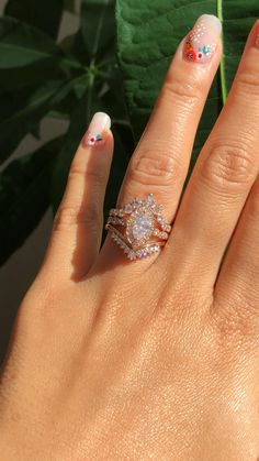 Stacked Engagement Ring, Crystal Engagement Rings, Floral Engagement Ring, Dream Engagement Rings, Engagement Ring Settings, Marquise Cut Engagement Rings, Marquise Wedding Rings, Unique Vintage Engagement Rings, Moissanite Engagement Rings