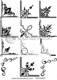 Corner Calligraphy Design Elements