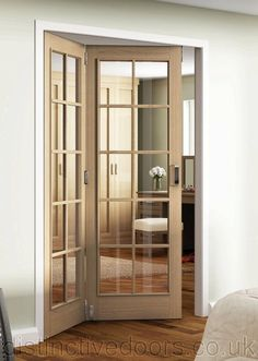 Huntingdon 10 Light Clear Glazed Oak Room Fold Room Divider