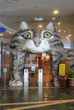 Visiting Kuching's Cat Museum, a bizarre museum full of cat artifacts, figurines and mummies. Cat City, Kuching, Borneo, Museums, Croatia, Lion Sculpture, Asia, Statue, Cats
