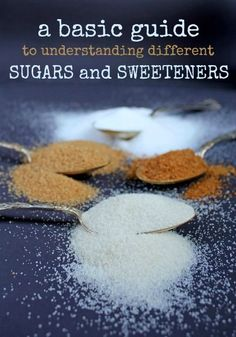 A basic guide to understanding different sugars and sweeteners.