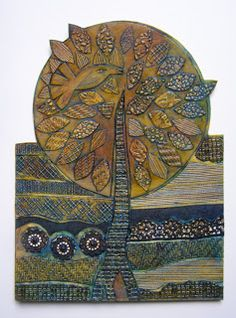 Fan My Flame: Collagraph Prints This is the actual collograph the print was made from - beautiful!!