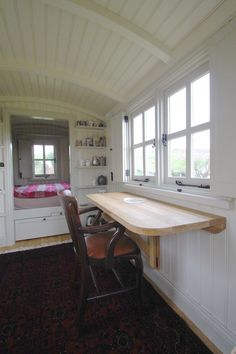 Bespoke Shepherd's Huts Gallery — The Yorkshire Hut Company Shed Office, Garden Office, Small Space Living, Small Spaces, She Shed Interior Ideas, Beach Hut Interior, Garden Cabins, Garden Lodge, Rv Camping