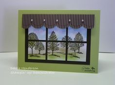 Stampin' Up!  I love the window pane ideas that I am finding here.. Imagine this with a deer stamp!  Great guy card