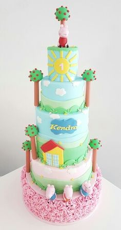 Peppa pig cake by Dina's cupcakes andcakes