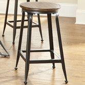 "Found it at Wayfair - Adele 24"" Bar Stool Overall: 24"" H x 14"" W x 14"" D Seat Height - Floor to Seat: 24"" distressed  brown $162"