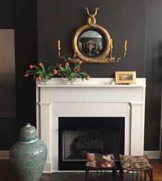 Stove Fireplace, Fireplace Design, Mantle Styling, Drawing Room, Interior Design Inspiration, Family Room, Interior Decorating, Sweet Home, Antiques