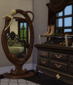 Floor mirror at Hinayuna's Sims 4 CC via Sims 4 Updates