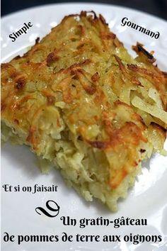 Et si on faisait un gratin de pommes de terre aux oignons, une recette que j'ai réalisée en accompagnement de mon rôti de porc mariné à la cocotte. Pour la recette , suivez-moi sur mon blog...!
