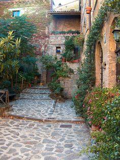 Hill town in Civita di Bagnoregio.  I love this space.