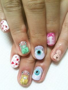 Daniel Johnston nails by Disco Nails, Japan.