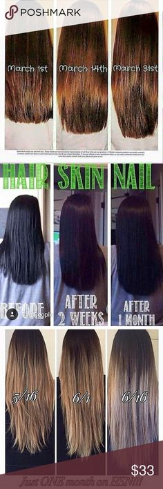 All Natural Hair Growth Vitamins! NEW CHALLENGE! I need THREE more ladies to take the 90 day mermaid challenge and provide results or a testimonial! To thank you, you will receive MY discounted price and get $22 off each bottle!😍 These all natural vitamins are AMAZING! I have tried biotin, hair infinity, and everything else you can imagine and there is NOTHING like this. If you want to grow your hair LONG, FAST, this is what you are looking for!😊Comment below if interested in the 90 day…