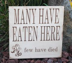 Painted and distressed wood sign - Rustic, Home Decor, Wall Art, Kitchen Art. $50.00, via Etsy.