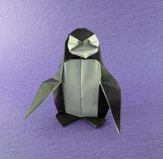 Origami Penguin by Fernando Gilgado Gomez folded by Gilad Aharoni