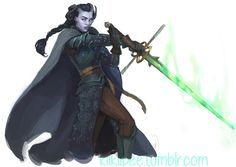 commission. Anokri by kiikii-sempai female tiefling fighter cloak sword armor clothes clothing fashion player character npc | Create your own roleplaying game material w/ RPG Bard: www.rpgbard.com | Writing inspiration for Dungeons and Dragons DND D&D Pathfinder PFRPG Warhammer 40k Star Wars Shadowrun Call of Cthulhu Lord of the Rings LoTR + d20 fantasy science fiction scifi horror design | Not Trusty Sword art: click artwork for source