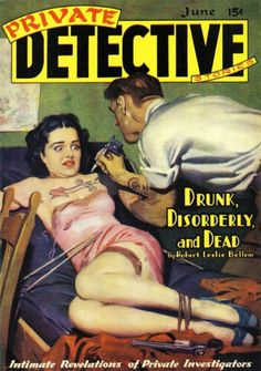 "gentlemanlosergentlemanjunkie: "" Private Detective Stories, July 1940; cover art…"