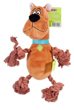 Scooby Doo Plush Rope Squeak Puppy Toys Hours of Pet Play Time Fun Great Quality #ScoobyDoo