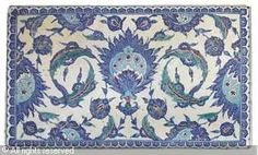 IZNIK CERAMIC, 16 > (Turkey)  Title : TILE  Date : ca 1570  TILE sold by Christie's, London, on Thursday, April 07, 2011