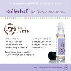 Tiny Teeth :: Rollerball Babies & Mamas Make & Take Workshop Kit #essentialoils #recipe #rollerballs #teeth #baby #makeandtake #kit