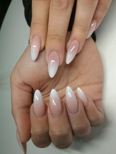 Beautiful Natural Looking Nail Design - Nails - # Nails # Nai . Beautiful, natural looking nail design - Nails - # beautiful . You are in the right place about wedding nails acr Almond Acrylic Nails, Cute Acrylic Nails, Acrylic Nail Designs, Cute Nails, Pretty Nails, White Almond Nails, Long Almond Nails, Almond Nail Art, Natural Looking Nails