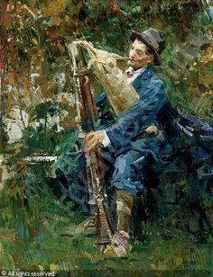 Luca Postiglione (Italian, 1876-1936)   Lo zampognard