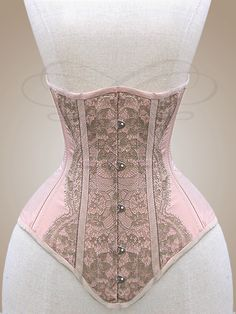 "Underbust Corset ""Rosa"" by v-couture-boutique.deviantart.com on @deviantART"