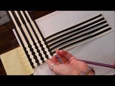 Paper Weave Scrapbook technique - YouTube