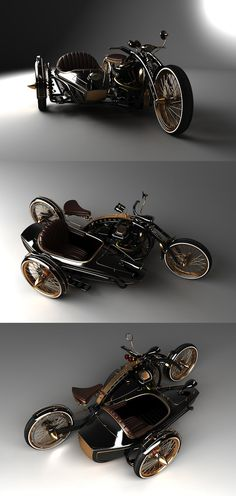 Black Widow......Nice, I like it ! I love sidecars anyway, we have one. It's a whole lotta fun ~ <3 ~