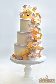 Resultado de imagen para twinkle twinkle little star cakes Twinkle Star Party, Twinkle Twinkle Little Star, Star Cakes, Star Baby Showers, Birthday Cake Girls, Birthday Kids, Girl Cakes, Cute Cakes, Celebration Cakes