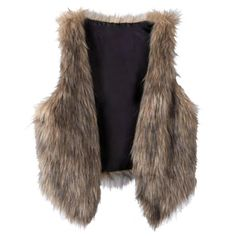 Women Sleeveless Casual Faux Fur Vest Gilet Jacket Coat Size L #Affiliate