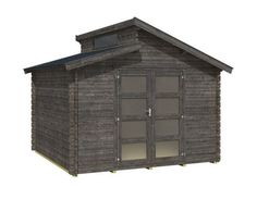 Outdoor Life Products Benno 280 zwart tuinhuisje / blokhut