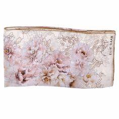 Elie Saab Scarf Pink Cream Floral Chiffon Silk Stola from Como Milano