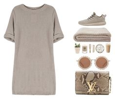 """Why Not..."" by ashola18 ❤ liked on Polyvore featuring Louis Vuitton, House of Holland, Baxter of California, Philip Kingsley, HAY, louisvuitton, beige, Yeezy, yoins and yoinscollection"