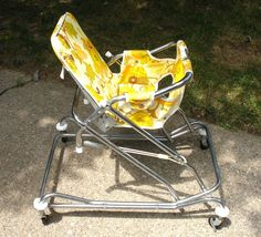 We had the best rides! Vintage Baby Toys, Retro Baby, Vintage Nursery, Vintage High Chairs, Baby Shower Registry, Baby Equipment, Baby Fabric, Baby Furniture, Baby Gear