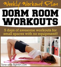 Dorm Room Workout | Back To School Workout | No Equipment Needed, You Can  Do This Workout Anywhere! Try 3 5 Sets Of This Tight Space Workout.