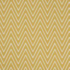 Caitlin Wilson Textiles: Mustard Tall Chevron Fabric - 50 per yard
