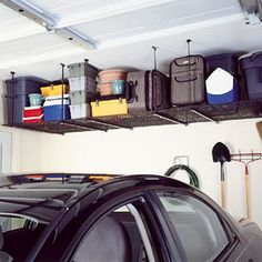 Where can you find extra storage space in your garage? Here's an idea...