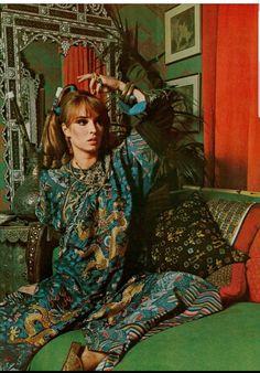 Talitha Getty for Vogue, 1968 Palestinian Wedding, Talitha Getty, Bohemian Chic Fashion, The Magicians, Dancer, Vogue, Punk, Memories, Wedding Dresses