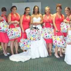 Thirty-One makes a great gift for the bridal party!   www.mythirtyone.com/JJs  let me set up your bridal registry today or help you with gifts for your girls